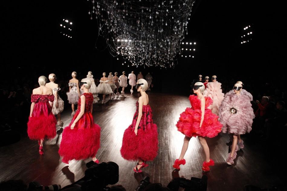 Sarah Burton Enthralls Spectators With Seductive Evening Creations in Paris