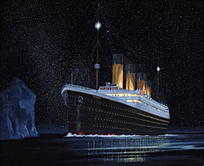moon behind titanic disaster   photos