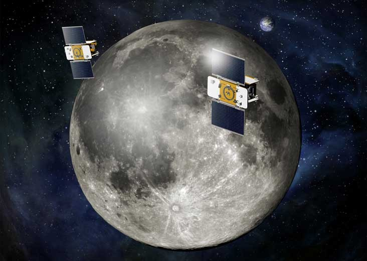 Twin Nasa spacecraft Ebb and Flow begin Moon Mapping