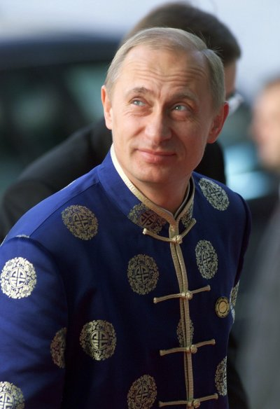 World leaders in traditional outfits