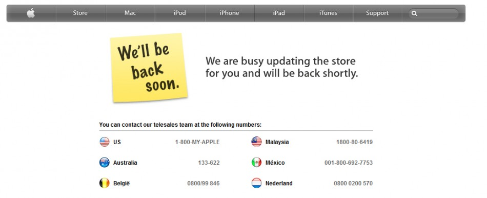 Apple Store Goes Offline