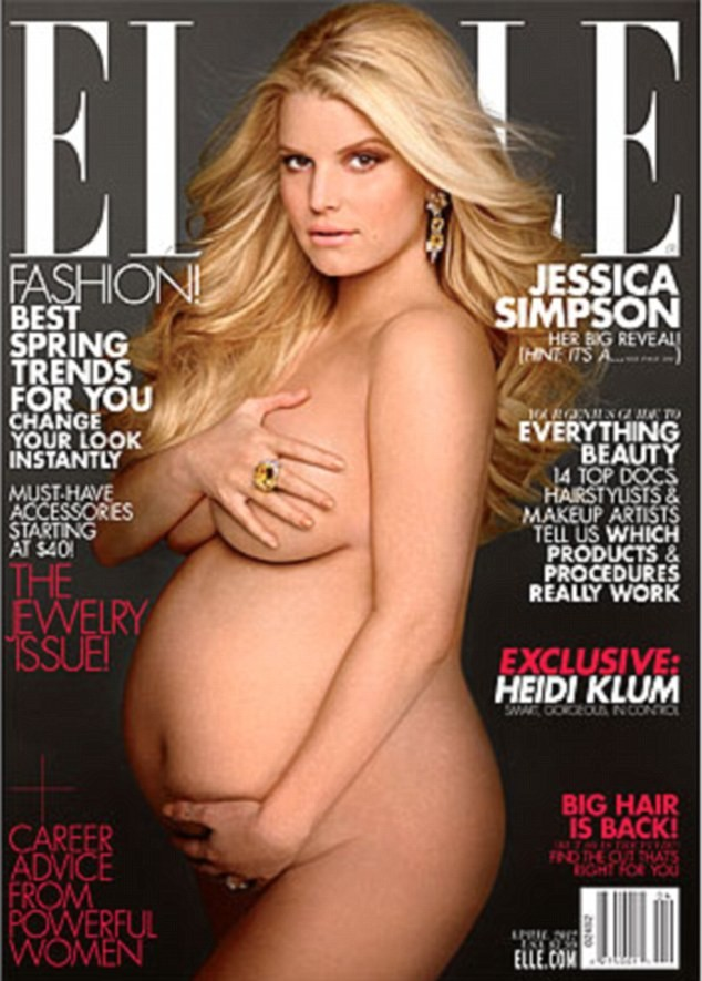 Jessica Simpson Pregnant, Nude Photo
