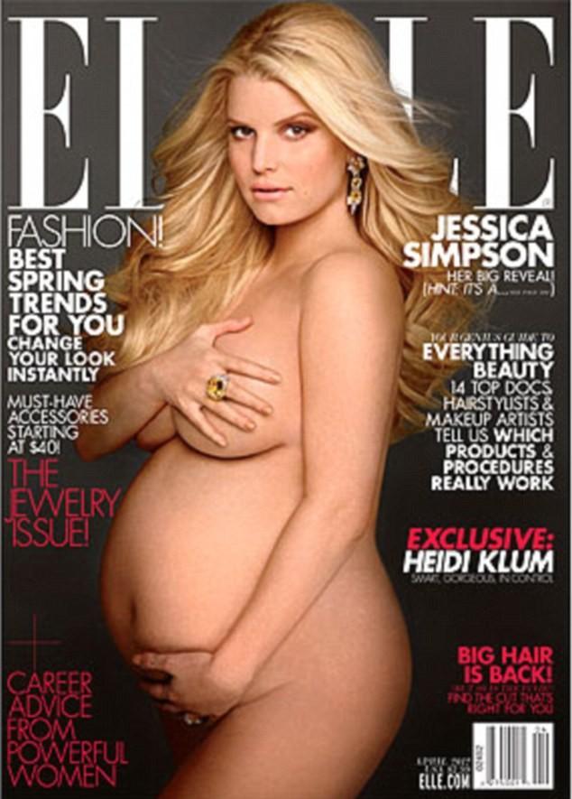 Jessica Simpson Pregnant, Nude Photo