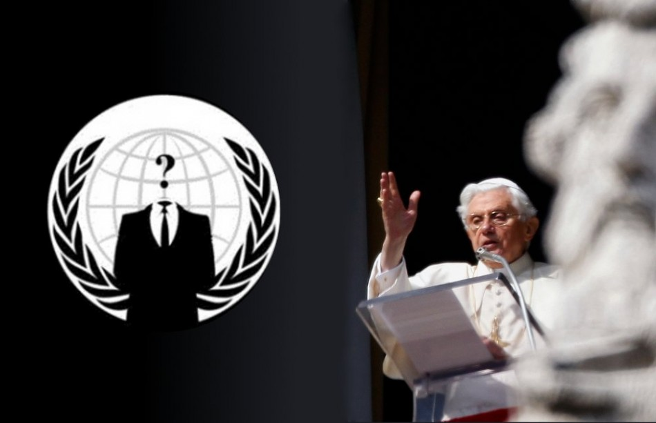 The Italian cell of Anonymous hacking collective has attacked the official website of the Vatican