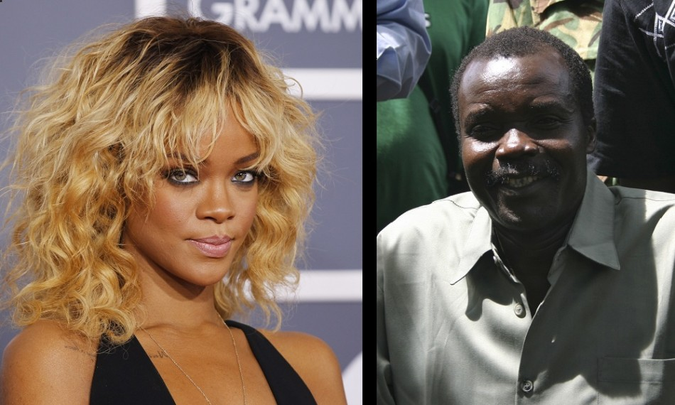 Singer Rihanna took to Twiiter to support the The Kony 2012 campaign