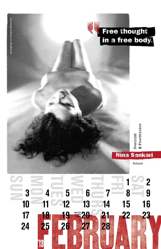 Page from Nude Revolutionary Photo Calendar