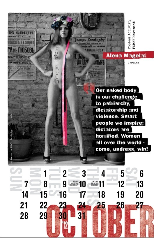 An extract from the Nude Revolutionary Photo Calendar