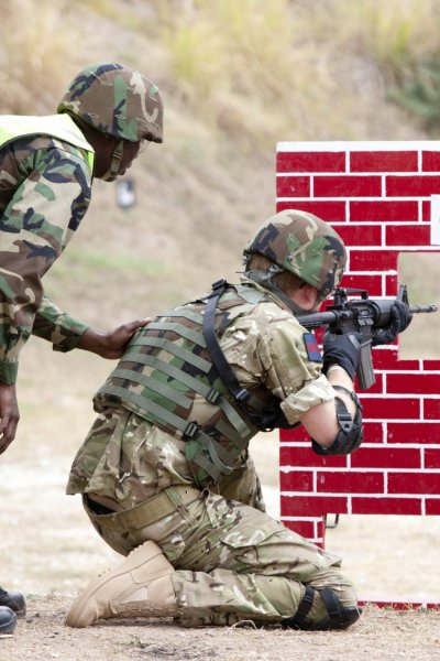 Britain039s Prince Harry participates in a live firing exercise
