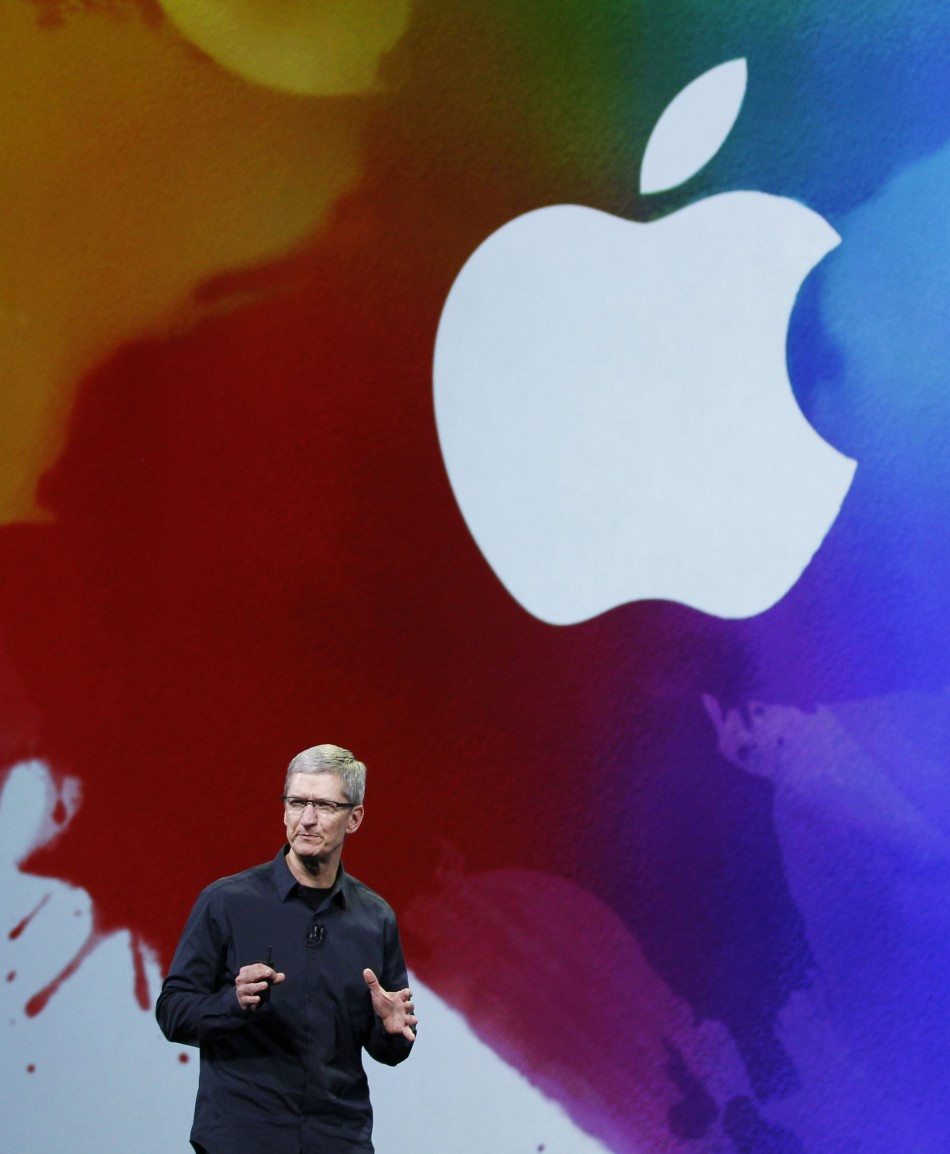 CEO Tim Cook speaks during an Apple event in San Francisco, California