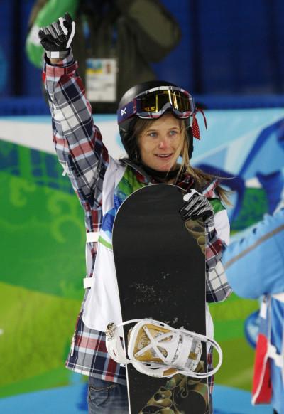 Hannah Teter Snow Boarding