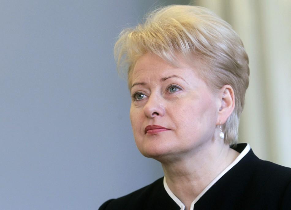 Lithuania President Dalia Grybauskaite