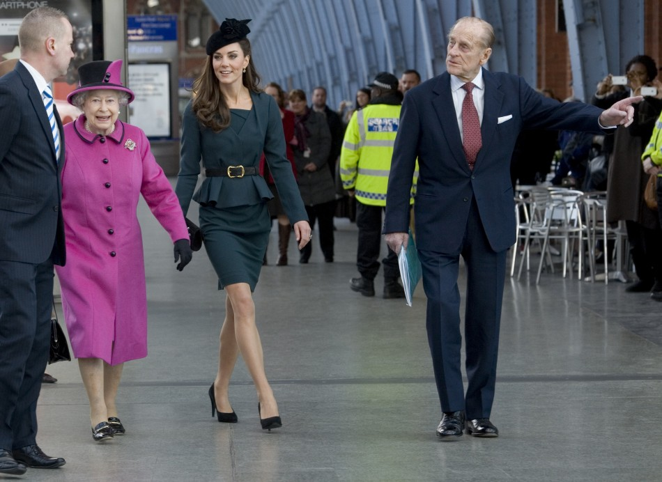 The Queen, Kate Middleton, Prince Philip