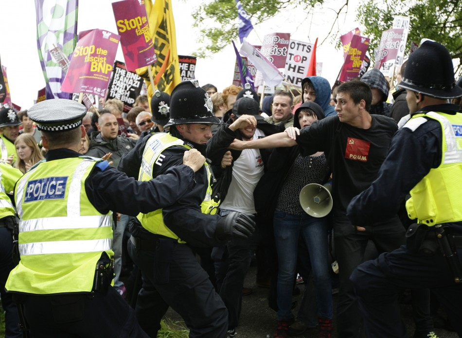 Far-right supporters in the UK appears to believe violent conflict between different ethnic, racial and religious groups is inevitable (Reuters)