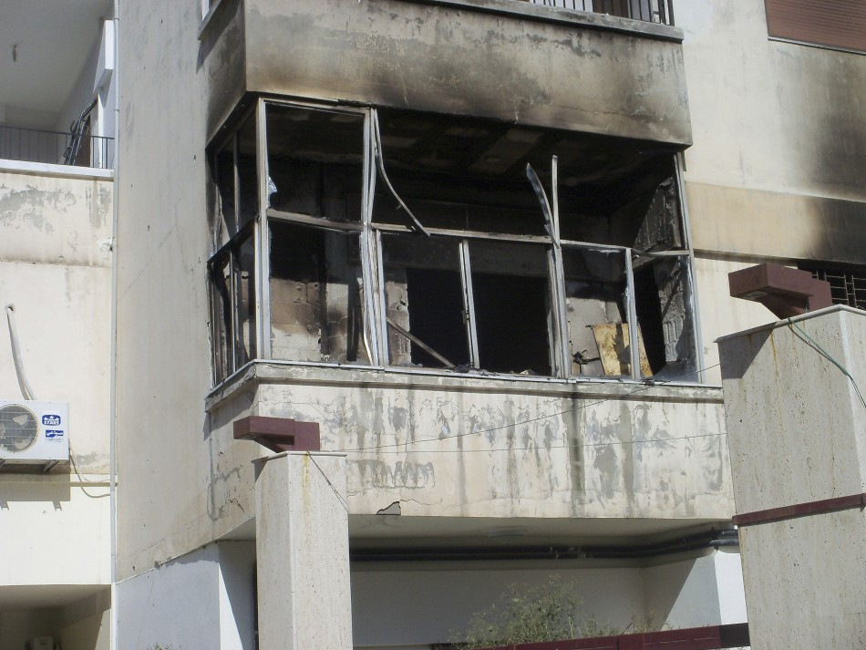 A damaged house in the Inshaat district of Homs