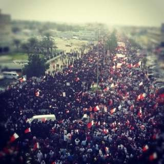 Activists say that more than 200,000 thousands Bahraini protesters took to the streets.