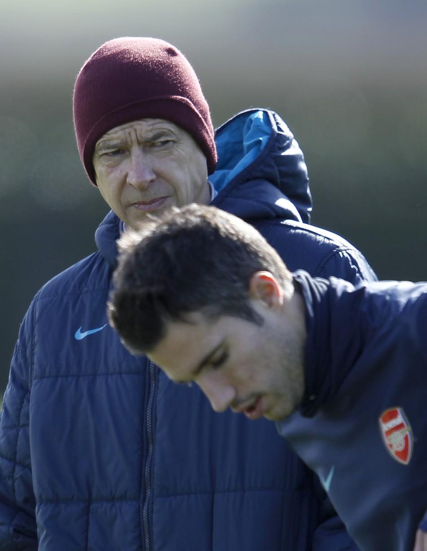 Arsene Wenger and Robin van Persie