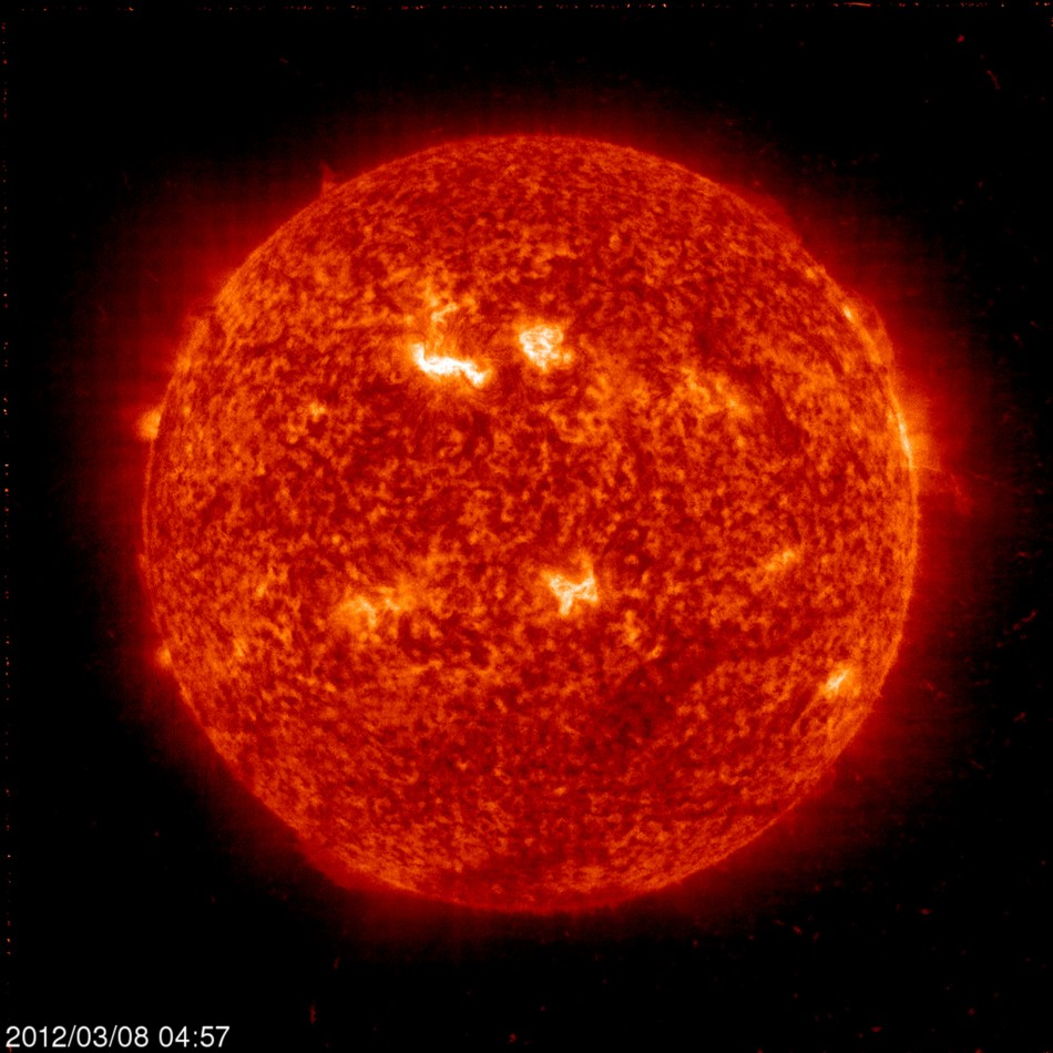 NASA handout image shows the Sun acquired by the Solar and Heliospheric Observatory