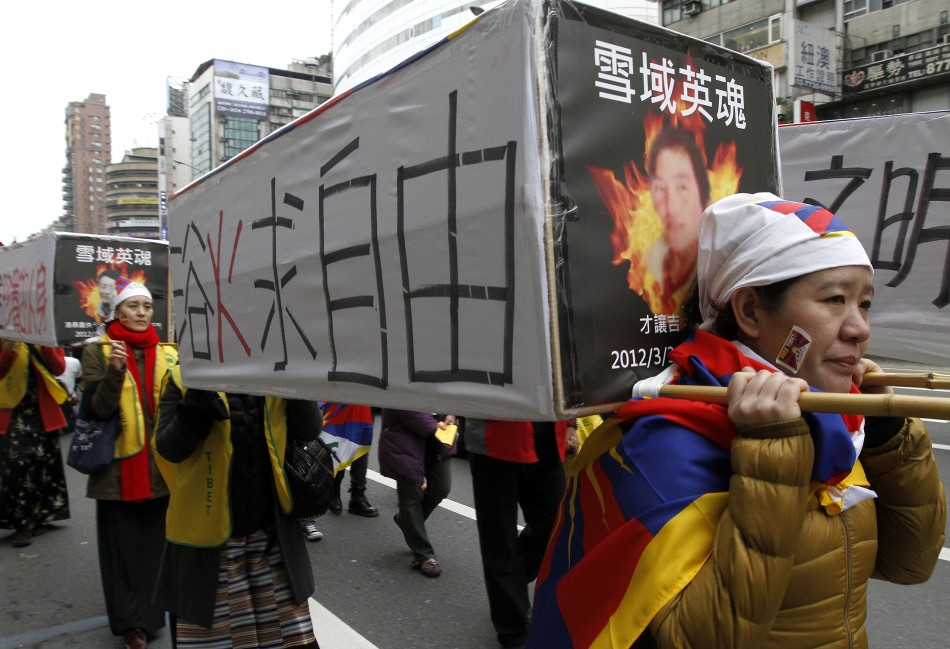 Tibetans and supporters in Taiwan marched the streets to mark Tibetan uprising