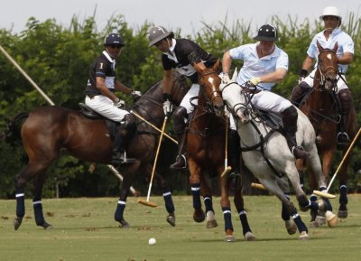 Prince Harry Winds Up Diamond Jubilee Tour with Polo Match