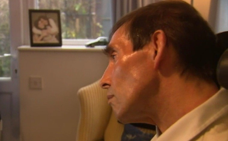 Tony Nicklinson suffers from 'locked-in syndrome' and wants a doctor to be able 'lawfully' to end his life (Sky)