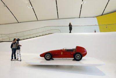 A 1961 Stanguellini Junior is pictured at the Casa Enzo Ferrari museum during a media preview in Modena