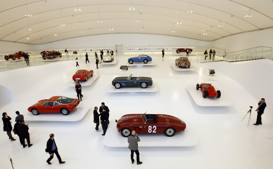 A general view shows the Casa Enzo Ferrari museum during a media preview in Modena