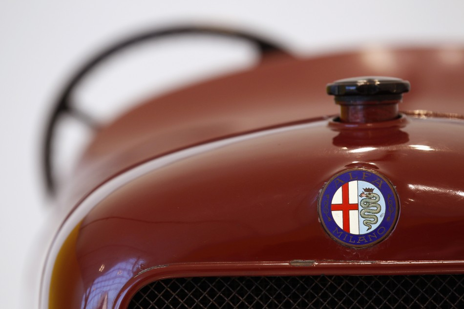 A 1913 Alfa Romeo 40-60 car is pictured at the Casa Enzo Ferrari museum during a media preview in Modena