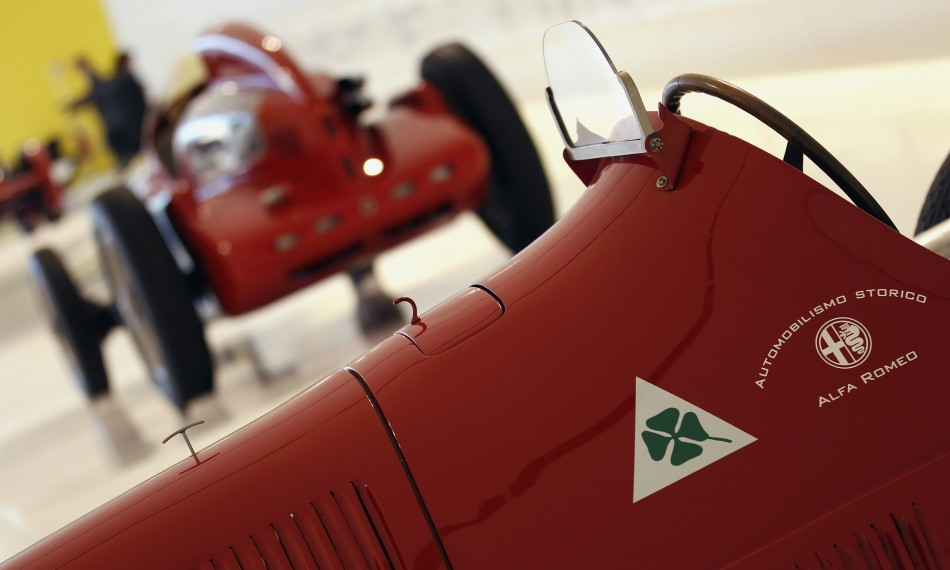 A 1938 Alfa Romeo 158 is pictured at the Casa Enzo Ferrari museum during a media preview in Modena