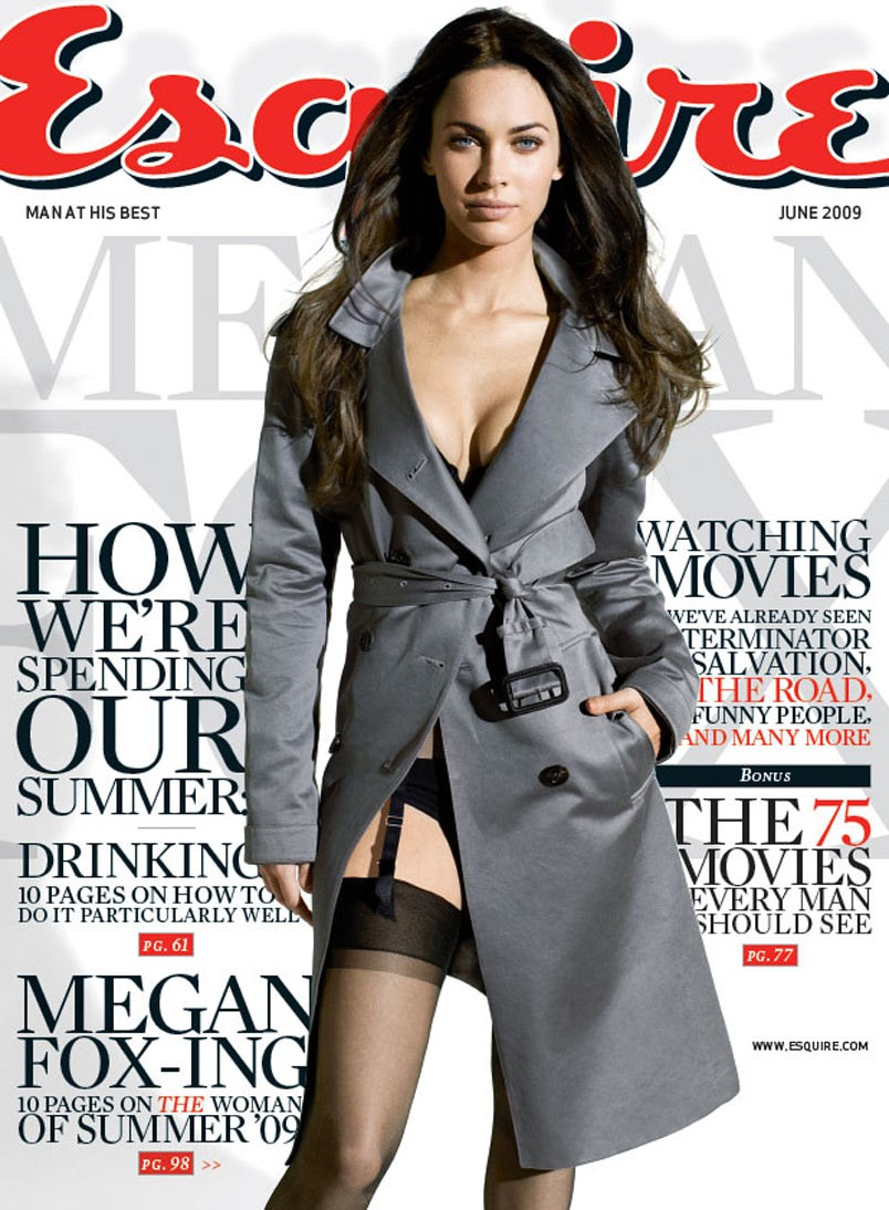 Megan Fox in cover page of Esquire