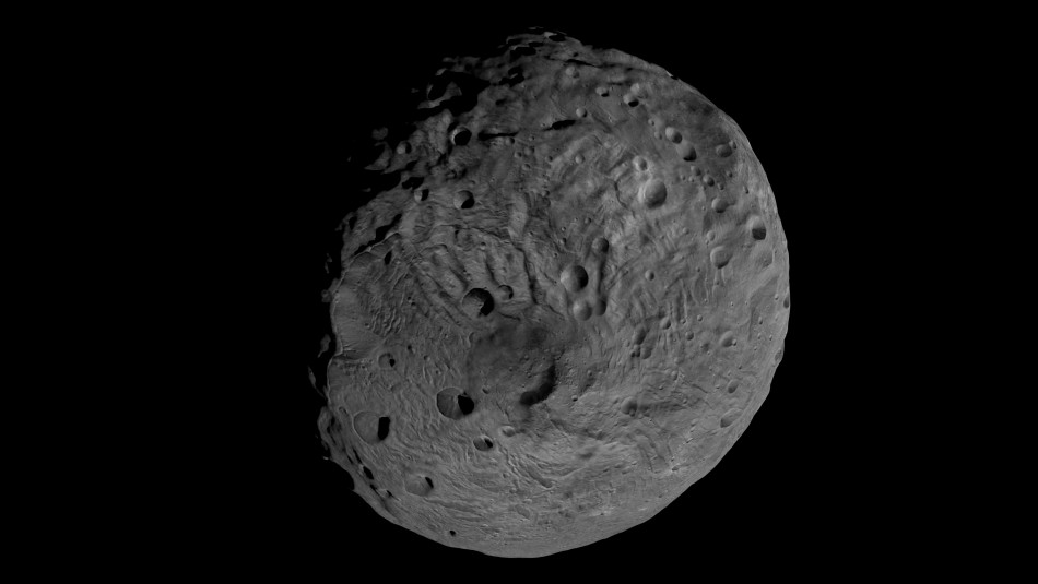NASA handout image from the Dawn spacecraft of the giant asteroid Vesta