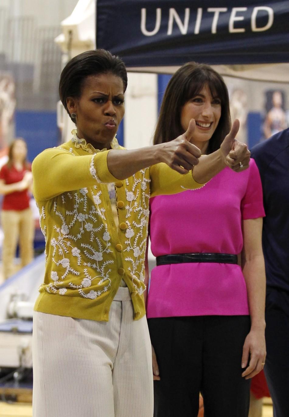 Michelle Obama and Samantha Cameron