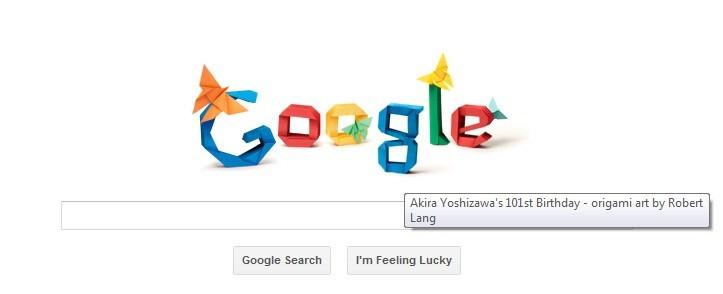 Google Doodle for Akira Yoshizawa