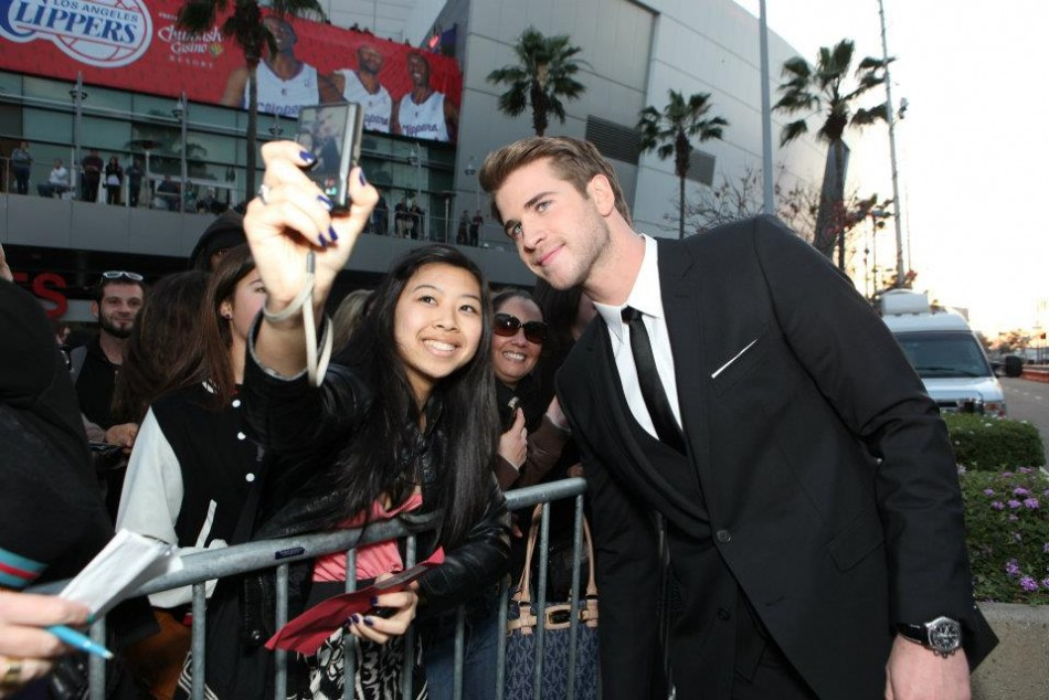 Liam Hemsworth at The Hunger Games World Premiere at Nokia Theater L.A Live