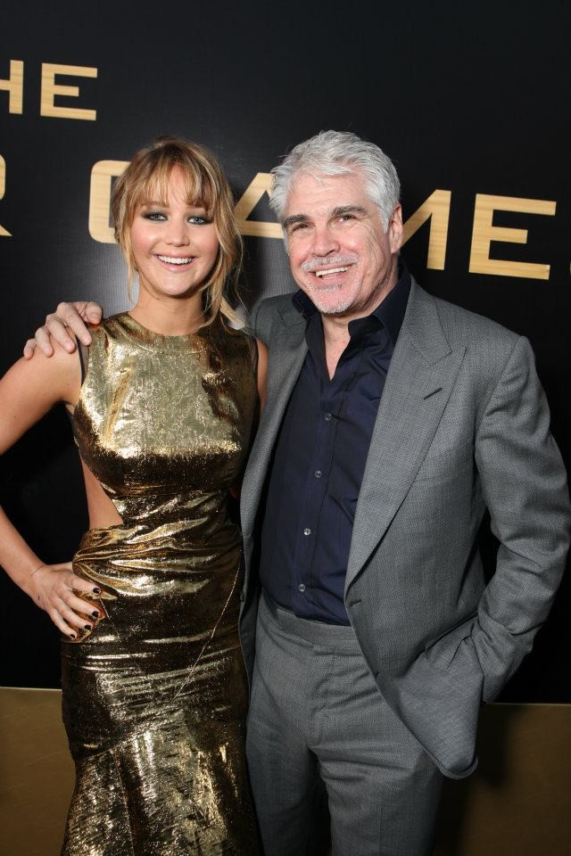 Jennifer Lawrence & Gary Ross at The Hunger Games World Premiere at Nokia Theater L.A Live