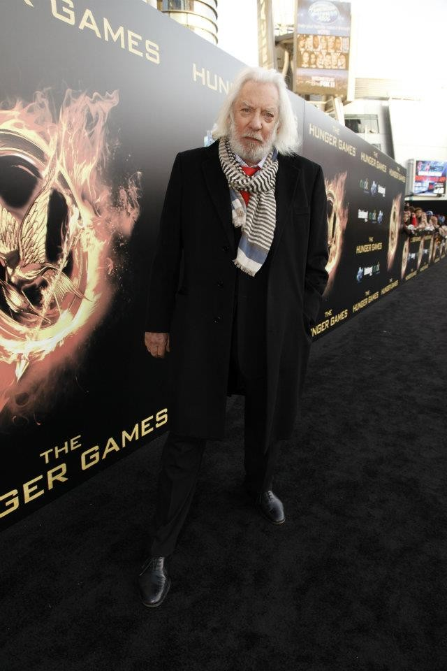 Donald Sutherland at The Hunger Games World Premiere at Nokia Theater L.A Live