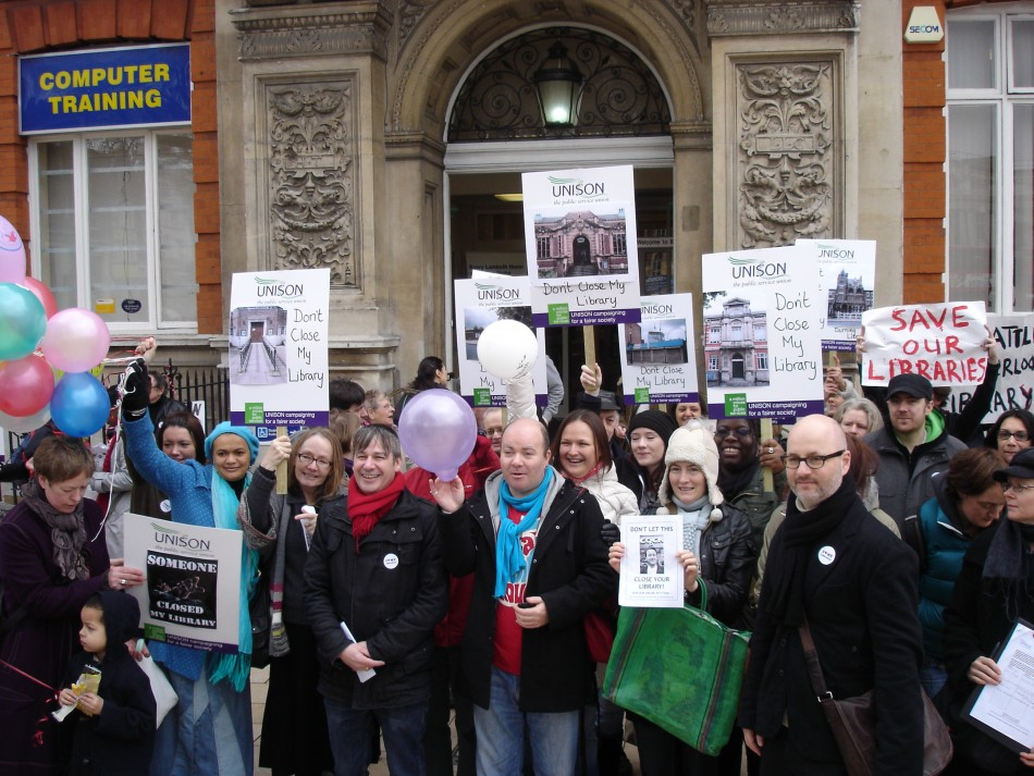 Rally to save library services in Lambeth