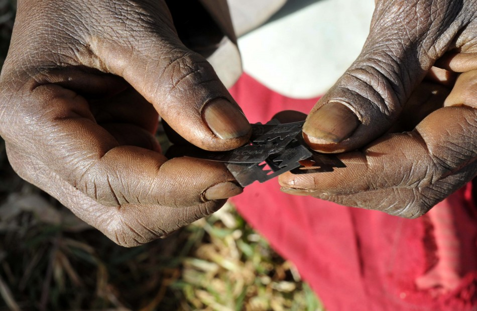 Surgical razors used for female genital mutilation