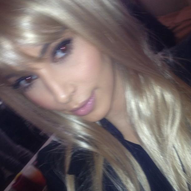 Kim Kardashians blonde look
