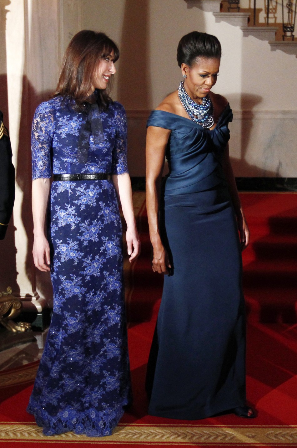 Samantha Cameron, Michelle Obama Dazzle at the White House State Dinner