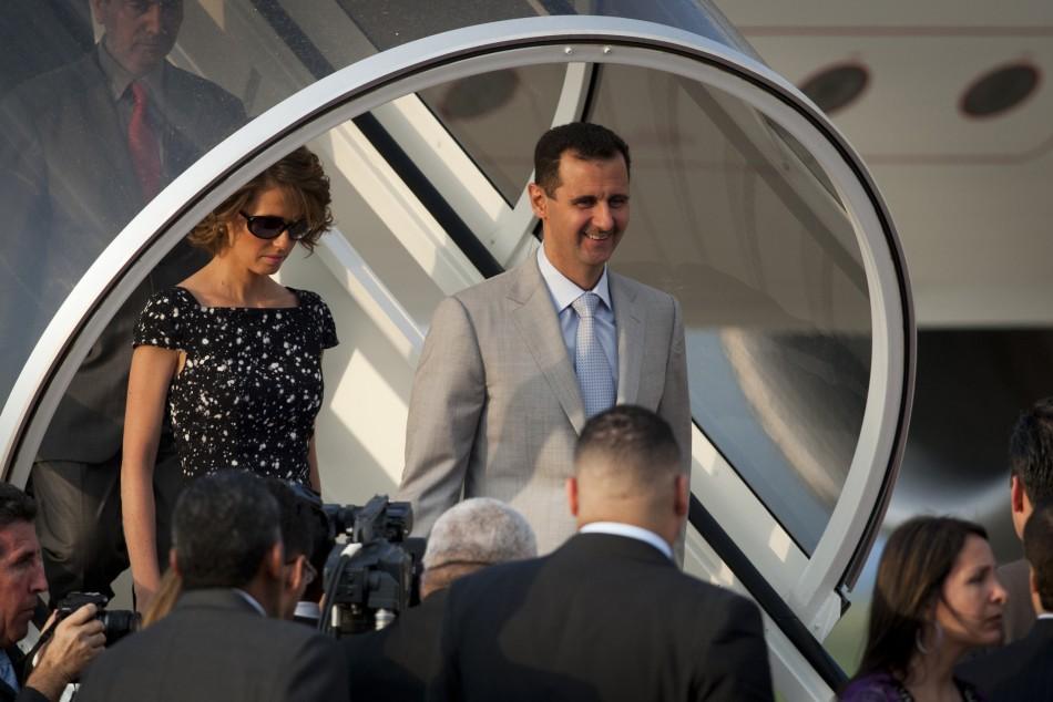 Bashar al-Assad and his wife Asma Assad