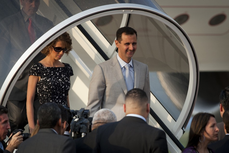 Bashar al-Assad and his wife Asma Assad