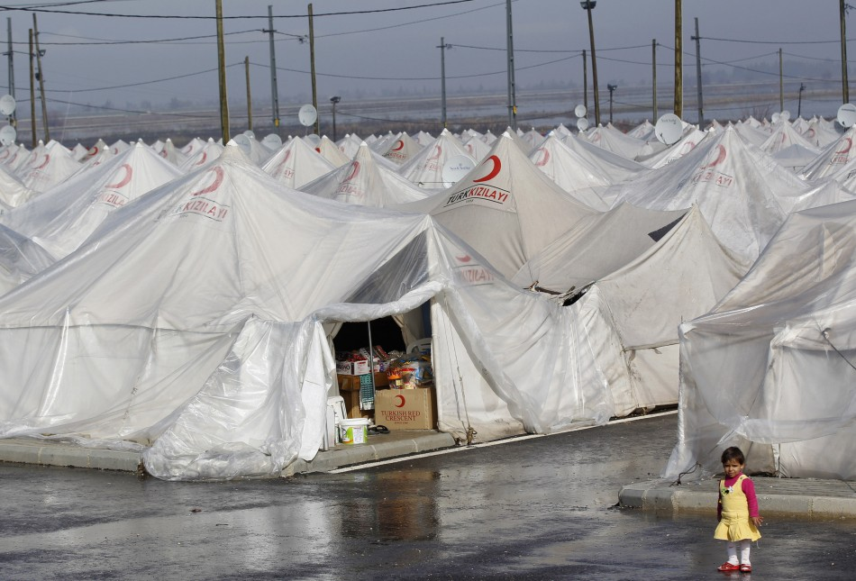 A tent refugee camp in Turkey