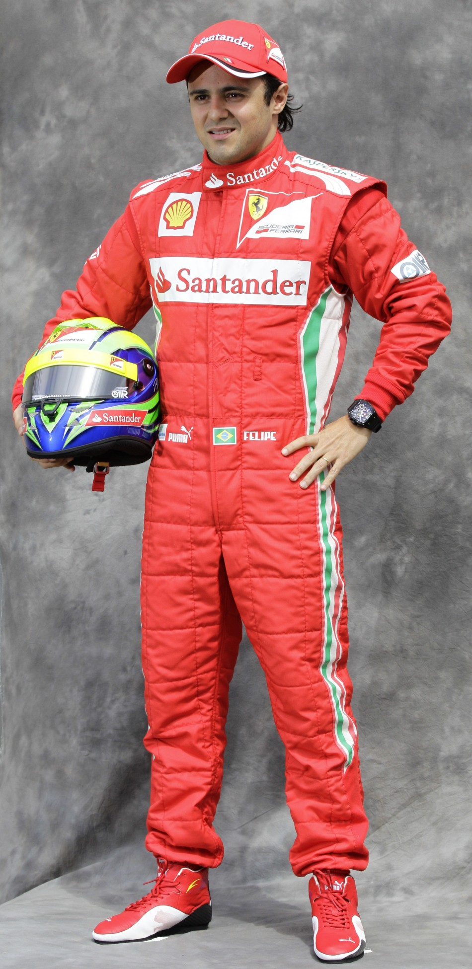 Ferrari Formula One driver Massa poses prior to the Australian F1 Grand Prix at the Albert Park circuit in Melbourne