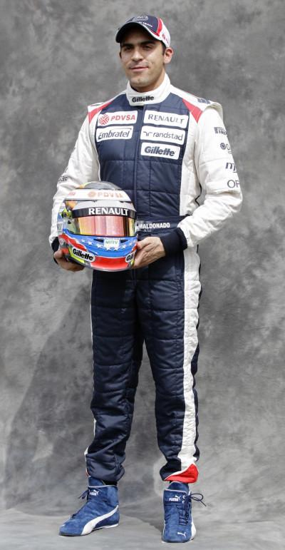Williams Formula One driver Maldonado poses prior to the Australian F1 Grand Prix at the Albert Park circuit in Melbourne