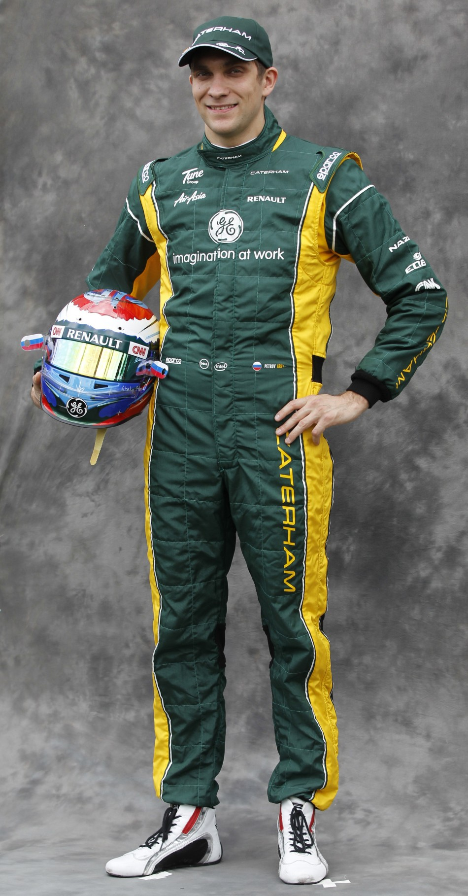Renault Formula One driver Petrov poses prior to the Australian F1 Grand Prix at the Albert Park circuit in Melbourne