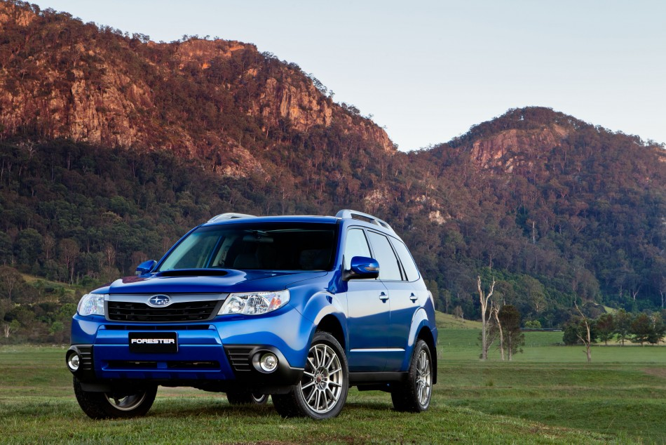 A parked 2011 Subaru Forester.