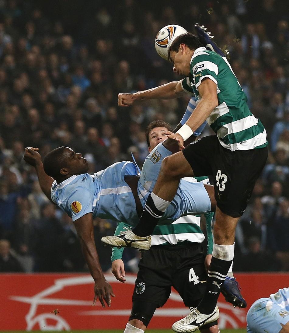 Soccer - Europa League - Round of Sixteen -  Second Leg - Manchester City v Sporting Lisbon - Etihad stadium