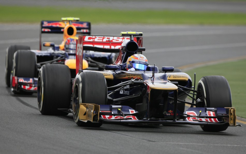 Toro Rosso Formula One driver Vergne drives during the first practice session of the Australian F1 Grand Prix at the Albert Park circuit in Melbourne
