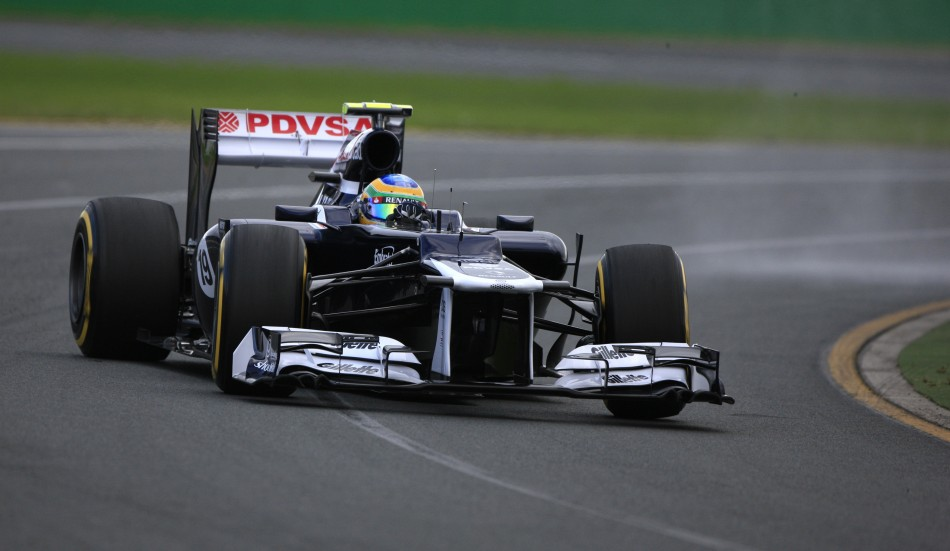 Williams Formula One driver Senna slides during the second practice session of the Australian F1 Grand Prix at the Albert Park circuit in Melbourne