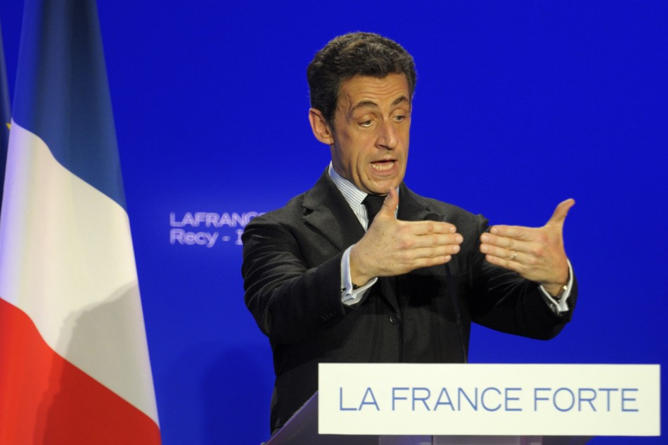 The re-election big of French President Nicolas Sarkozy will be affected by the nation's economy.